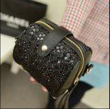 번쩍이는 Handbag Sequins PU 숙녀 지갑 어깨에 매는 가방