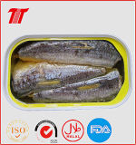 Cavala do molho do petróleo vegetal ou do tomate/sardinhas enlatadas atum