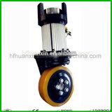 24V 1500kw duro conjunto de rueda de tracción montacargas motor eléctrico serie DC emocionado unidad apiladora de motor de 230mm Sistema de transmisión del motor de la apiladora con barra timón