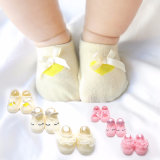 New Baby Socks for Spring, Stereo Ear Bow Baby Socks and Cartoon Anti-Skid Floor Socks