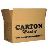 Contenitori impaccanti riciclati abitudine di scatola del Brown, casella di trasporto con stampa di marchio