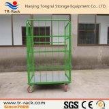 Carro logístico do trole do recipiente do rolo do armazenamento Foldable