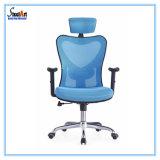 Design ergonómico confortável cadeira de escritório de cor azul