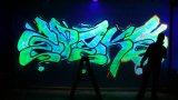 Pintura de aerosol luminosa del uno mismo