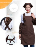 Pockets Restaurant Kitchen Cooking Nail Shop Art Work Apron Design Logo Customize를 가진 여자 Supermarket Waiter Aprons
