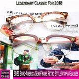 8026 Euro-Amerika Halb-Rahmen Retro Art-Myopie-Gläser