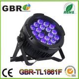 2017 de Fabriek van China! De hoge Macht 18X12W RGBWA+UV 6 in 1 Waterdichte LEIDEN PARI kan de OpenluchtVerlichting van het PARI van de Wasmachine van de Muur van het Project aansteken leiden