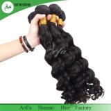 Extensão indiana não processada do cabelo humano do Virgin da onda do corpo de 100%