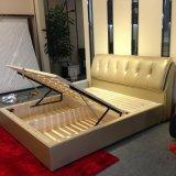 Funktionsspeicherfestes Holz-Leder-Bett (SBT-11)