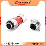 Cnlinko IP67 M24 de instrumentos de cobre los tapones antipolvo clavija macho hembra Conectores de alimentación para TIRA DE LEDS Factory