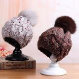 Senhoras Inverno Capacetes de malha mulheres Jacquard Beanie Hat