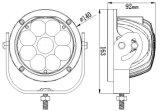45W 5 Polegada levou a Luz de Direção de Deslocamento em Trilhas Round para luz de Jipe 4X4