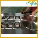 Una sola ronda de PAN Pan freír Helado Máquina con 6 bandejas de frutas