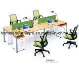 Büro-Zelle mit beweglicher Untersatz-linearem Schreibtisch-Büro-Arbeitsplatz