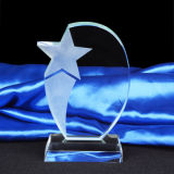 Premio di cristallo del trofeo del grande pollice con la base
