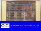 ロールショッピングモールのための水晶シャッタードアPVCドア
