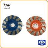 콘크리트, 지면을%s 80 mm 파란과 주황색 다이아몬드 회전 숫돌