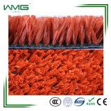 Rote Farben-Fäserchen PET Garn-Fußball-künstliches Gras