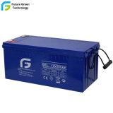 12V 200Ah AGA de la sécurité de la batterie de l'Accumulateur pour système d'alimentation solaire