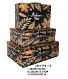 3秋様式のスーツケースの宝石類Box&#160のホーム装飾セット; 木のケースの木箱