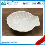 Piatto bianco commerciale di Conq delle coperture della porcellana di vendita calda