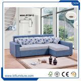 Bâti de sofa mou de la vente 2017 chaude dans le chrome et le tissu à terminer pour la salle de séjour