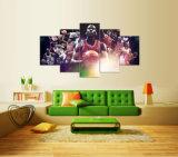 [هيغقوليتي] [5بكس] تجريديّ نوع خيش صورة زيتيّة مايكل الأردن نجم ملصقة جدار صور لأنّ يعيش [رووم ويل] فنية صورة زيتيّة