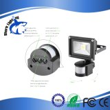 reflector de la seguridad LED del sensor de movimiento 10W