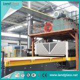 Luoyang Landglass, welches das flache Glas mildert Maschine aufbaut