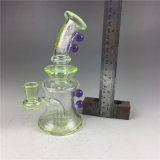 Het groene Asbakje van het Glas van de Rook van de Installatie van de SCHAR van de Olie van de Pijp van het Glas Rokende
