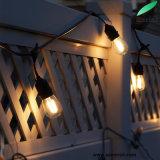 48 발 S14 LED 전구를 가진 비바람에 견디는 옥외 끈 빛