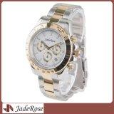人のスポーツのカレンダの防水ステンレス鋼の偶然のアナログの水晶腕時計