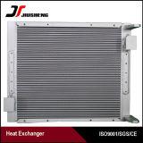 Échangeur de chaleur brasé par vide personnalisé d'ailette de plaque pour Hitachi