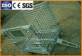 Аттестованные Ce складные Stackable стальные контейнеры паллета ячеистой сети