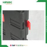 분홍색 2 바퀴 플라스틱 공구 Foldable 손수레