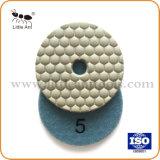 На заводе 3'' гибкие алмазные пол мраморный гранита сухой шлифовки блока