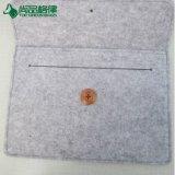 Kundenspezifischer Filz-Unisexnotizbuch-Laptop-Beutel-Hülsen-Kasten mit Taste