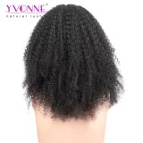 アフリカのねじれた人間の毛髪のレースの前部かつら100%の人間の毛髪のかつら