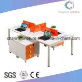 برتقاليّ صليب مكتب حاجز أعلى خشبيّة مع [فيل كبينت] بيضاء ([كس-و1861])