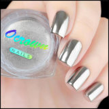 Chrome Mirror Effect Silver Nail polish of pigment Powder