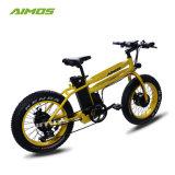 2017 Nuevo diseño de 20 pulgadas neumático Fat bicicleta eléctrica con motor doble vehículo eléctrico