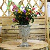Цветочные горшки плантатора MGO сбор винограда античные напольные круглые