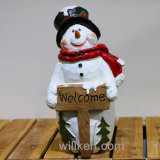 고품질 크리스마스 주제 눈사람 작은 조상 옥외 훈장