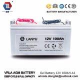 Батареи солнечной батареи 12V AGM загерметизированные 100ah свинцовокислотные/Lanyu100A001