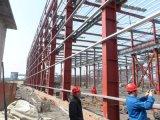 Estructura de acero para el taller del almacén