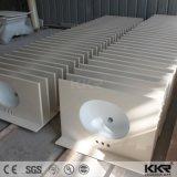 Parte superior personalizada da vaidade do banheiro do material de construção superfície contínua