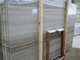 Hölzerne weiße Marmorsteinfliesen für Wand, Fußboden, Countertop