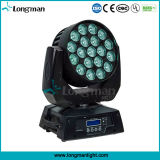Ce do zoom 19PCS 15W do poder superior que move a luz principal do diodo emissor de luz