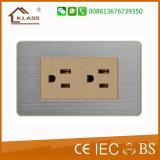 Электрическая стенная розетка переключателя 2gang+1socket