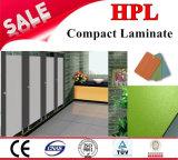 La puerta de baño Wc partición hojas de HPL